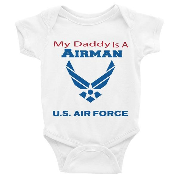 My Daddy is an Airman - Infant short sleeve one-piece