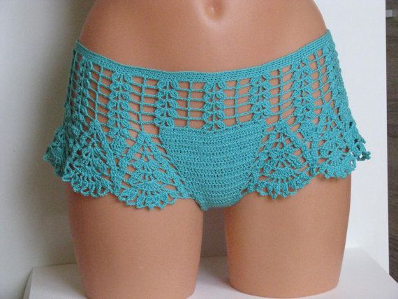 Original crochet  surf short Women Swimwear shorts por Spillija
