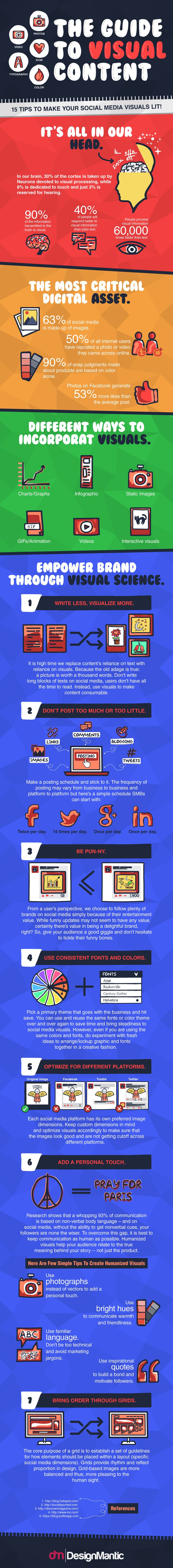 15 Tips to Improve Your Visual #SocialMedia Strategy #Infographic #Marketing