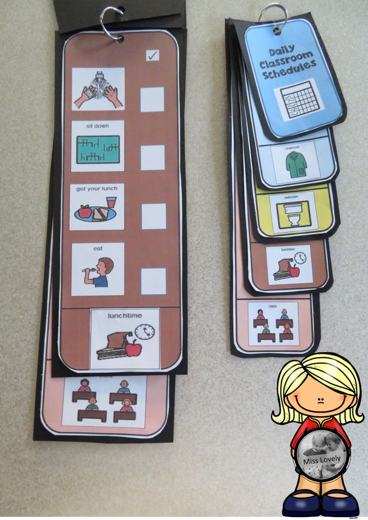 Schedule strips for classroom management!