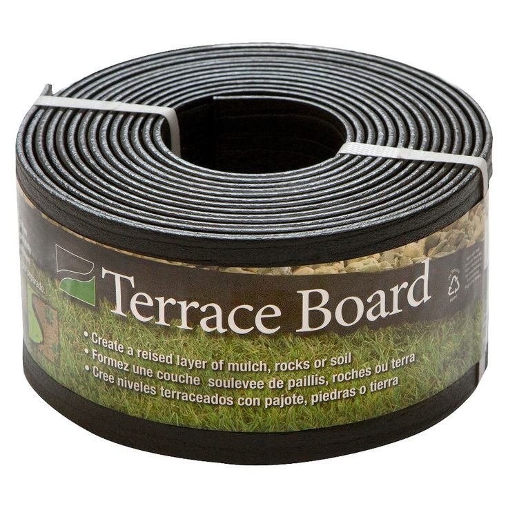 4 x 20' Terrace Board Lawn & Garden Edging Black With 5 stakes - Black - Master Mark Plastics
