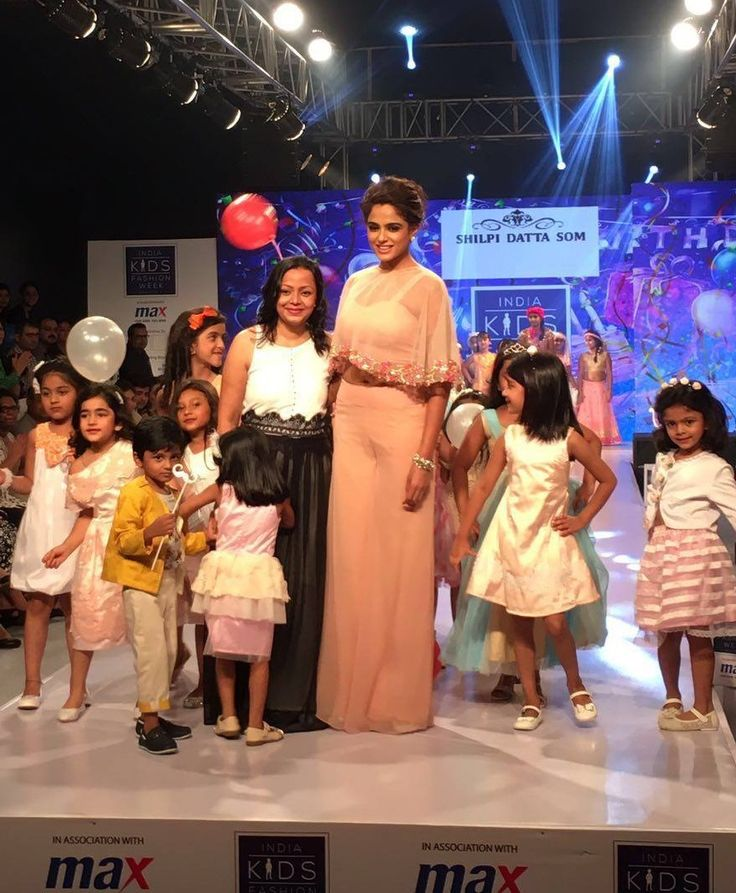 Shilpi Datta Som a kids couture brand has Asmita Sood as her show stopper