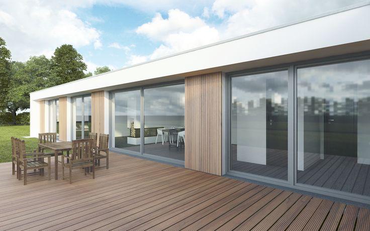 Celý dům je navržen ve stavebním systému Porotherm, který bude zateplen tepelnou izolací tak, aby odpovídal nízkoenergetickému standardu.