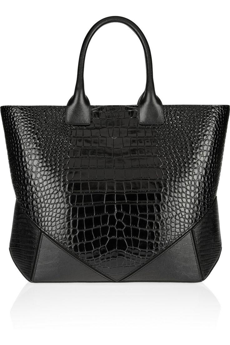 Givenchy|Easy bag in black croc-embossed leather #beautyintheBAG #bags #designer