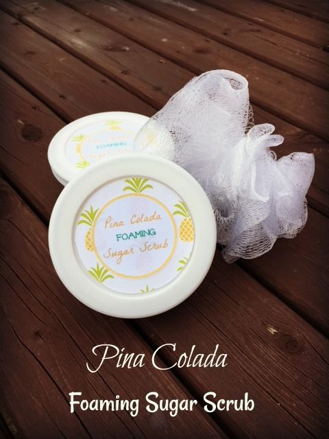 This Pina Colada Foaming coconut oil Sugar Scrub is rich in lather and gentle in exfoliating your skin.