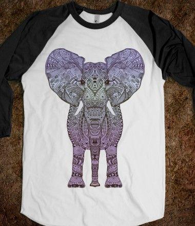 PURPLE AZTEC ELEPHANT #elephant #shirt