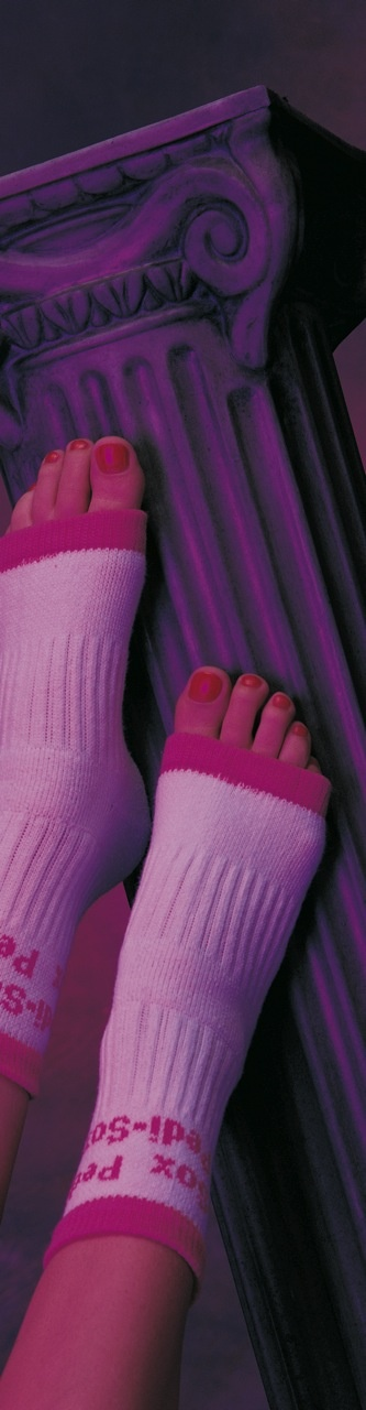 "The Original Pedi-Sox® ""Pamper your Feet""®......keep freshly pedicured feet comfy cozy & clean !  Toenails dry flawless."