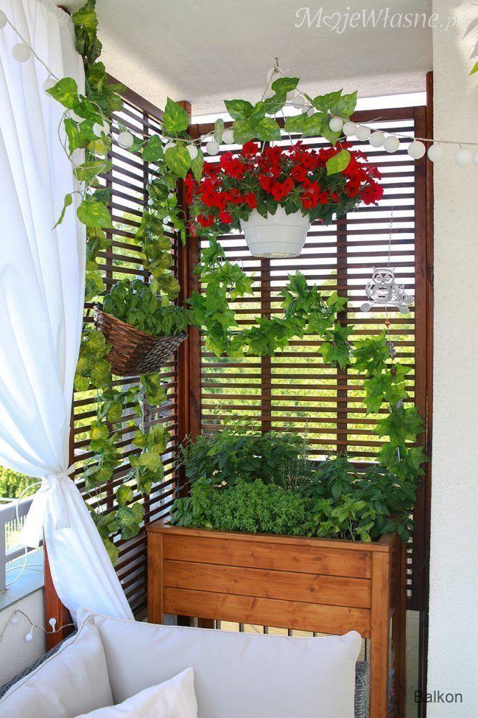 Balkon Sommerbalkonarrangement 2017 Eigenes Small Balcony Decor Balcony Decor Lattice Garden