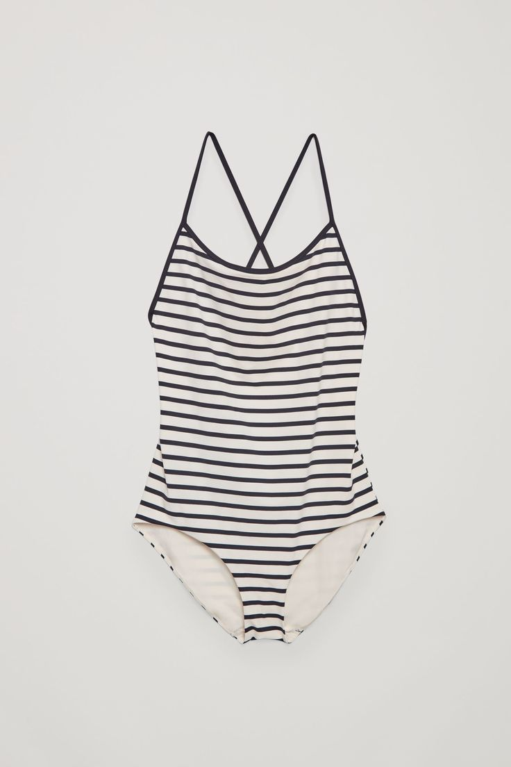 COS image 4 of Cross-over swimsuit in White
