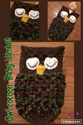 Camo coloured Owl baby blanket cocoon  Great for baby showers, newborn photo shoot or just because you love the new little bundle of joy in your life.