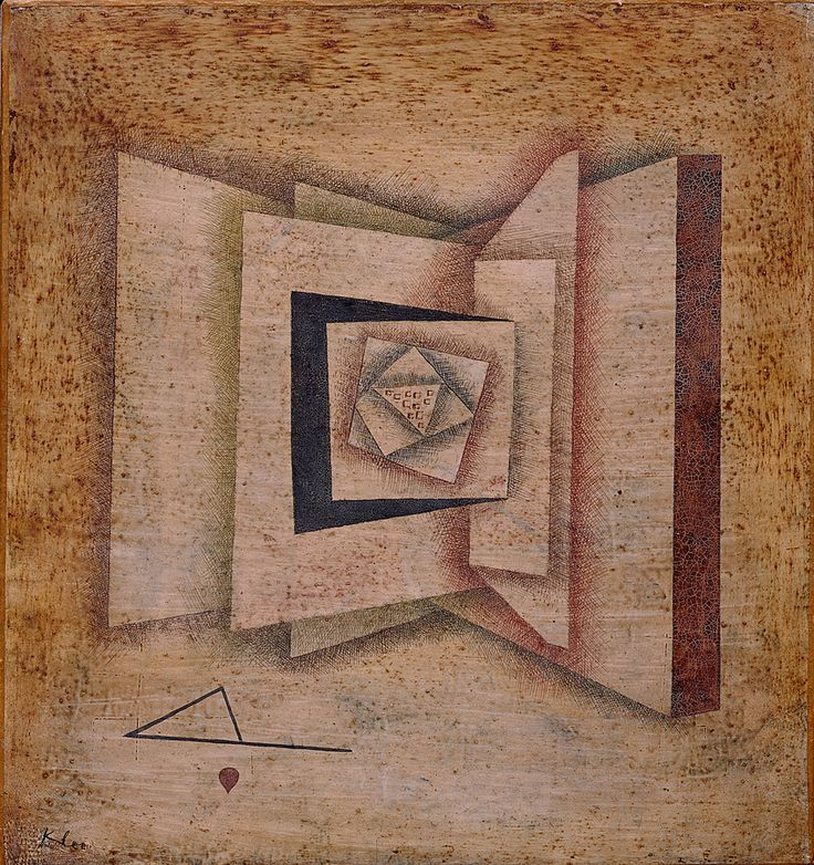 """""""Open Book (Offenes Buch),"""" 1930, Water-based paint and varnish over white lacquer on paper, mounted on canvas; 18 x 16¾ inches (45.7 x 42.5 cm). The Solomon R. Guggenheim Museum, New York."""