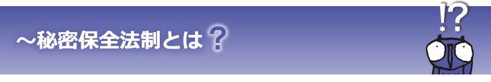 日本弁護士連合会│Japan Federation of Bar Associations:秘密保全法制とは?