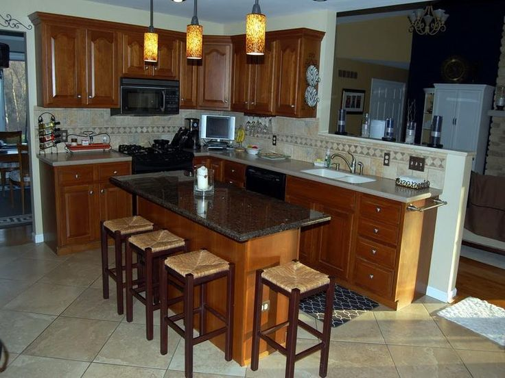 11 Best Images About Kitchen On Pinterest Oak Cabinets Small Kitchen Islan