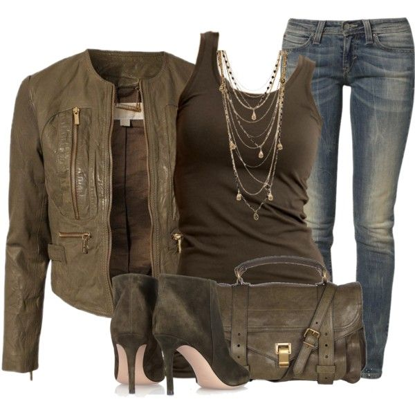 """Michael Kors jacket and Levi jeans"" by fashion-766 on Polyvore"