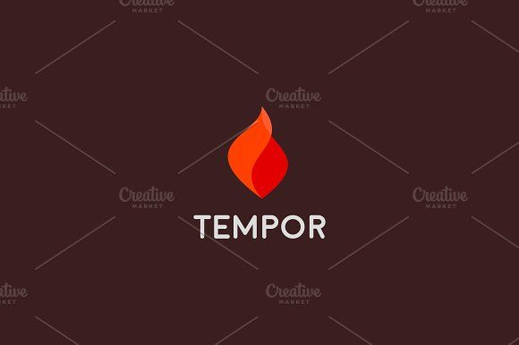 Fire grill logo symbol design. Flame vector icon logotype by Bureau on @creativemarket