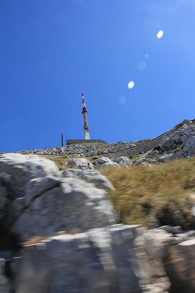 TV Tower on the hill of Sv Jure in Nature Park Biokovo in Croatia #croatia #chorwacja #biokovo #svjure