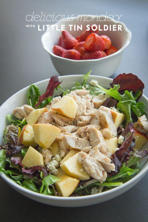 Chicken and Apple Salad #bluecheese #raspberrywalnutvinaigrette ...