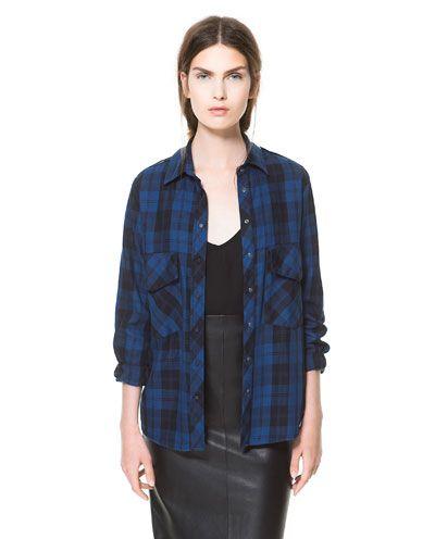 チェックシャツ - シャツ ブラウス - WOMAN   ZARA 日本