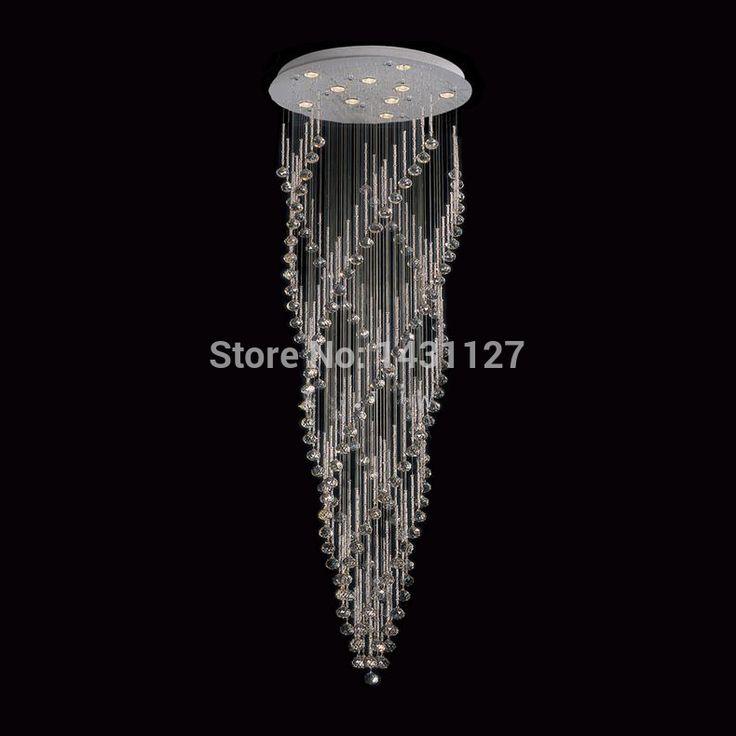 Best Top Luxury Spiral Design Modern Crystal Chandelier 400 x 300