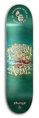 ZtuntZ Skateboards Crooked Letter Brewing Mystery Romp Park Skateboard Deck 8.0