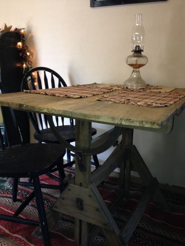 Antique Drafting Table I Turned Mine Into A Table During My Kitchen Redo Love It
