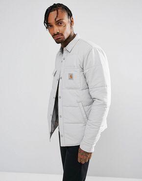 Carhartt WIP Sheldon Padded Shirt Jacket - Gray