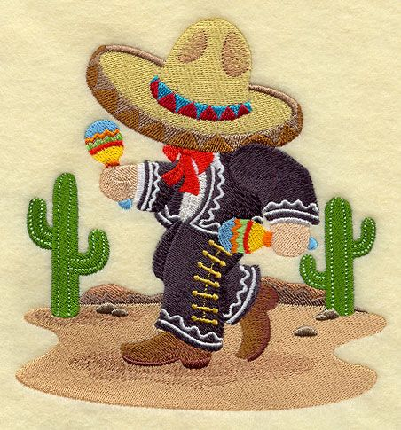 ** Fisherman Fred in Mexico Block Of The Month Pattern Used As Applique Quilt @emlibrary