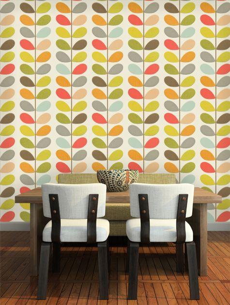 Orla Kiely Multi Stem Wallpaper - 110384
