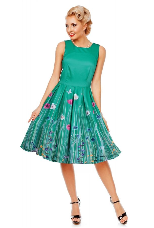 408e2238eba Annie Retro Swing Dress in Green Meadow in 2019