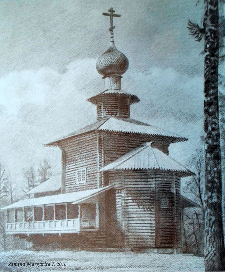 """The New Jerusalem Monastery"" by Margarita Zimina.  ""В Ново-Иерусалимском монастыре"". Зимина Маргарита."