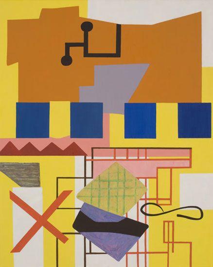 Shirley Jaffe, Labyrinth, 2009-10. Oil on canvas, 32 x 25½ inches. Courtesy Tibor de Nagy Gallery