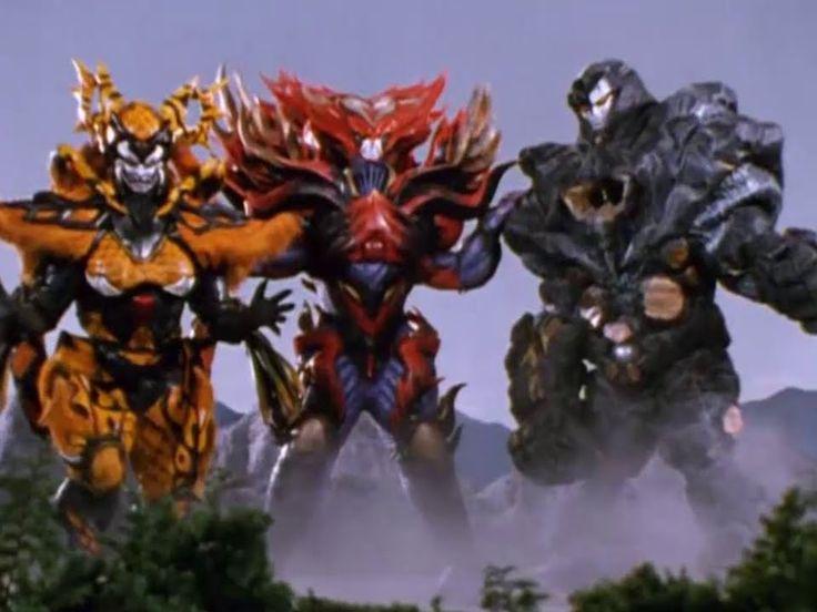 Power Ranger En El Espacio | Rangers vs Psycho Red, Black y Yellow - Bat...