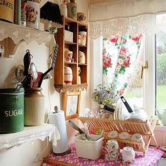 кухня в стиле Прованс шторы: