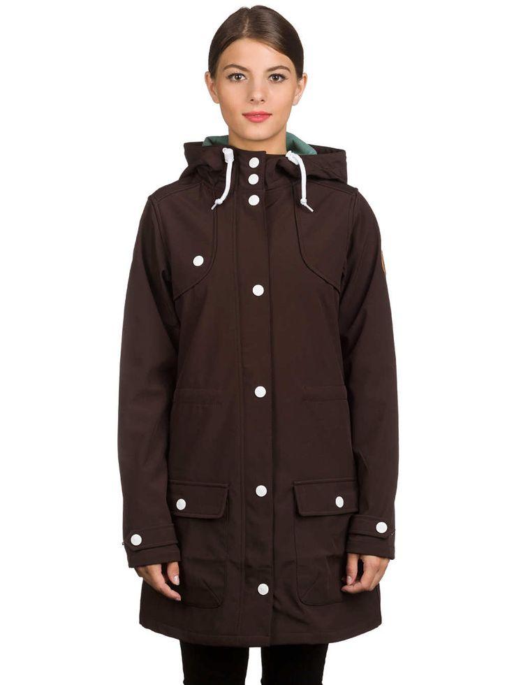 Derbe Isola Softshell Mantel online kopen bij blue-tomato.com dark brown donker bruin jas jacket