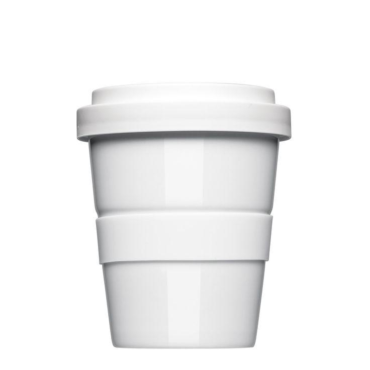 Coffee2Go small der original Coffee-to-go-Becher Designbecher aus Porzellan. Zum Bedrucken, mit Glasur/Logo-Gravur eine Werbeidee für den Mittelstand