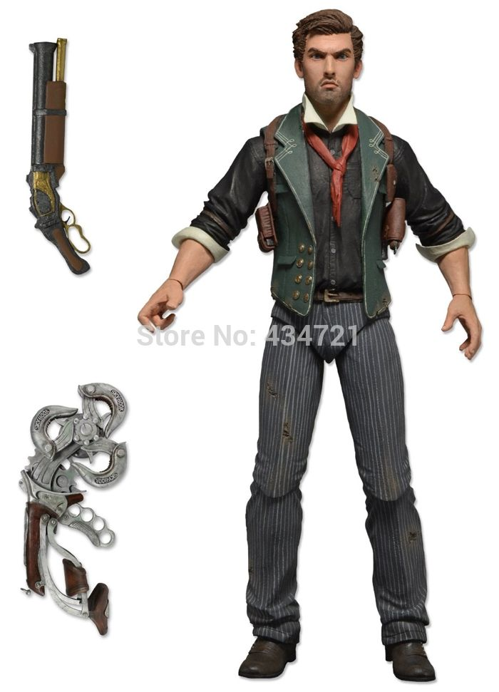 """31.04$  Watch here - http://ai4rb.worlditems.win/all/product.php?id=2046763359 - """"New Arrival Classic First View PC/Xbox/PS Shooting Game BioShock  Infinite Booker Dewitt 7""""""""/18CM Action Figure Toy New In Box"""""""
