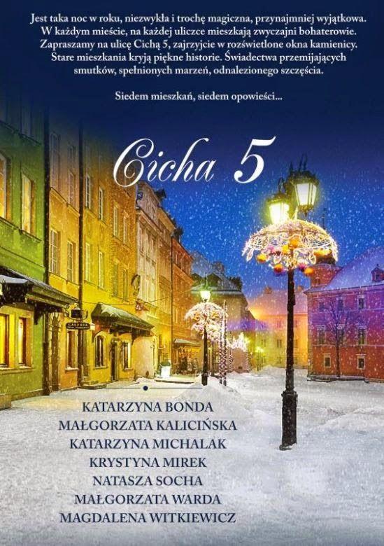 Zbiór opowiadań, który właśnie przeczytałam godny jest polecenia i całkiem wysokich ocen. Ładnie wydany, a przede wszystkim dobrze napisany, świetnie wpasowuje się w listopadowo-grudniowy klimat oczekiwania na Boże Narodzenie. W większości opowiadania zostały dobrane idealnie. http://dune-fairytales.blogspot.com/2014/11/cicha-5-k-bonda-m-kalicinska-k-michalak.html