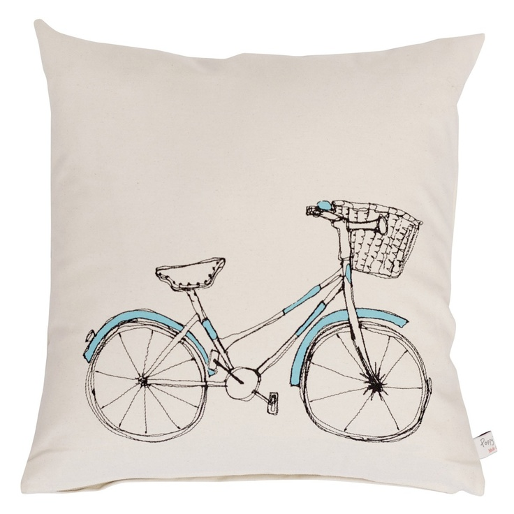 bicycle - printed cushion - Homewares