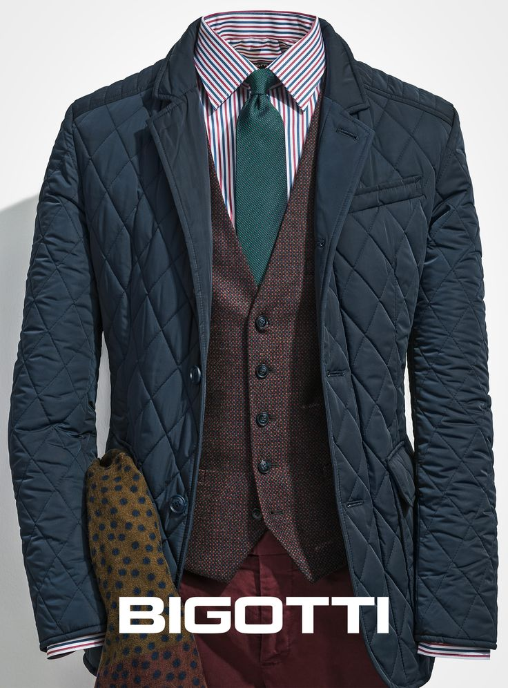 #Teaming the #elegance of the #blazer with #modern #elements – #both #fashion and #practical (the #lapels #become #tunic #collar), this #Bigotti #quilted #jacket #provides a #remarkable #smart #look. www.bigotti.ro