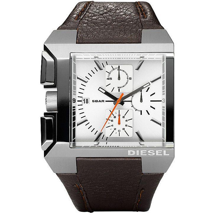 finest selection 74b5f 3a25d Diesel DZ4174 Men's Brown Leather Quartz Watch | Analog ...