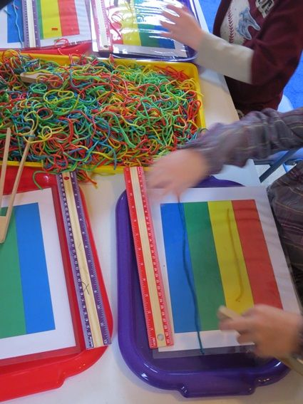 S is for spaghetti measuring and sensory play