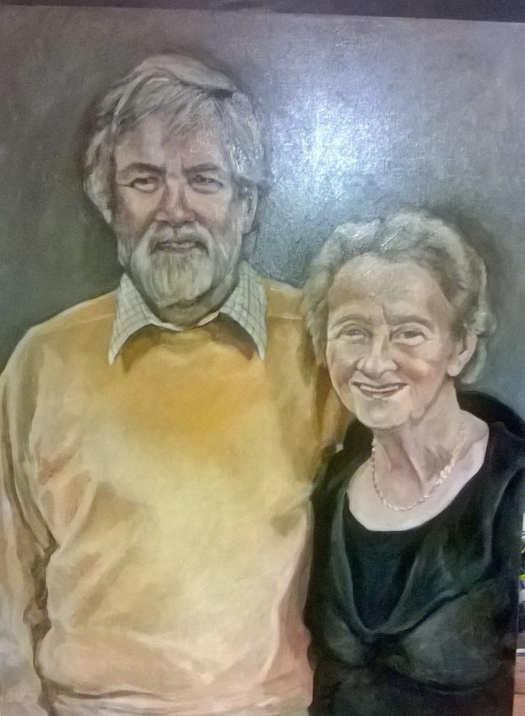 Mum and Dad 2015 ( Oil on canvas ) Painting