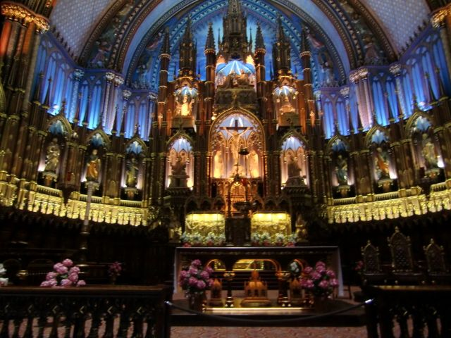 Our Favorite Things to Do in Montreal in the Summer: See the Sound and Light Show at Notre Dame Basilica