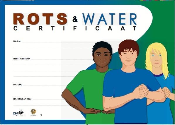 Rots & Water certificaat van de leerling. Wat heb jij geleerd? #grondig
