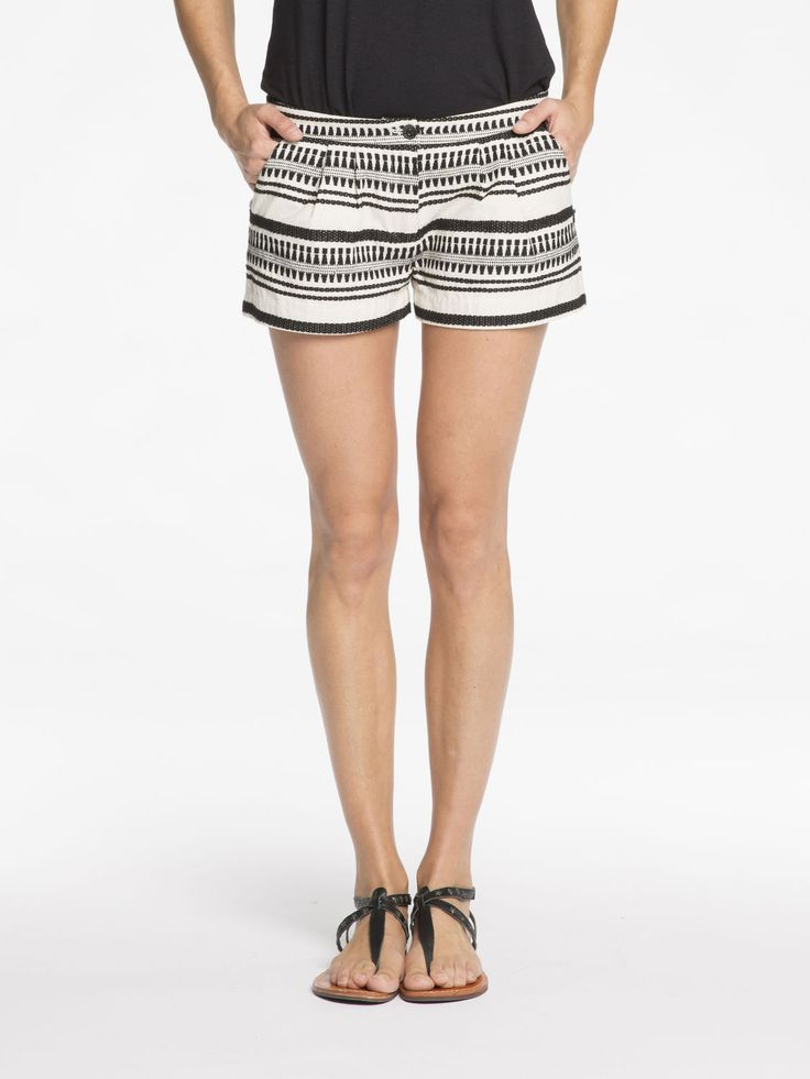 Gestreepte shorts|Korte broeken|Dameskleding bij Scotch & Soda