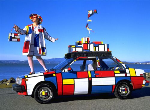 in the style of Mondrian...