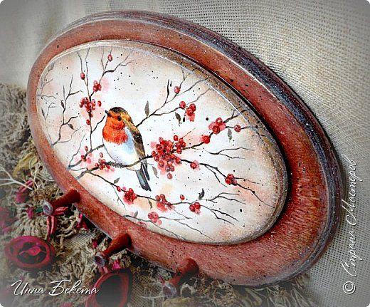 Декор предметов Декупаж ключница-вешалка Дерево Салфетки фото 2