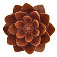 Organic Sabo Wood White Water Lilies Double Flared Plugs 8G - 1 (3mm - 25mm) - Pair | The delicate petals and elaborate floral detail these water lily plugs demonstrates why Urban Star is a leader in the field of body jewelry made from organic materials. Created by skilled craftsmen, each of these plugs is a unique creation. Made from sabo wood, these double flared plugs of earthy, luminous shine are made with comfort, durability and beauty in mind.