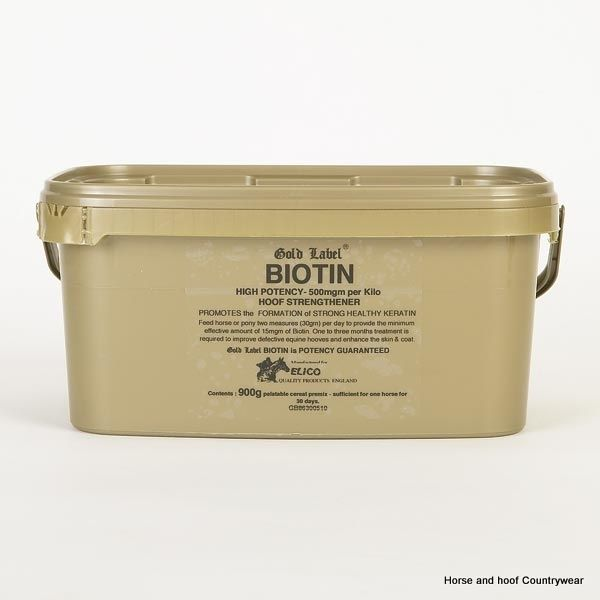 Gold Label Biotin Daily feeding of 15mg of pure biotin results in the formation…