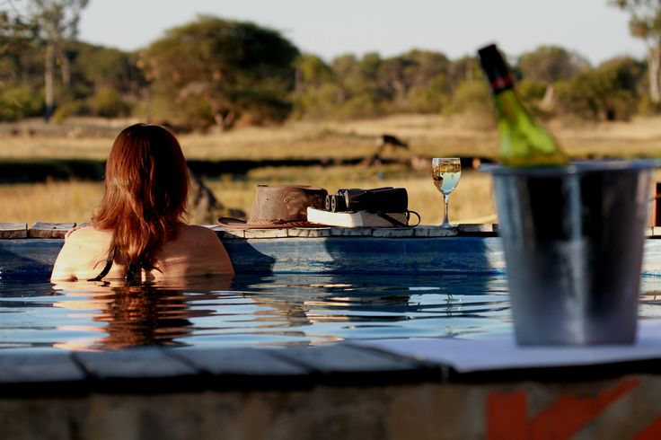 The pool at The Hide, overlooking the savannah.  Read more about this luxurious Zimbabwe lodge: http://www.go2africa.com/accommodation/7860/at-a-glance/the-hide